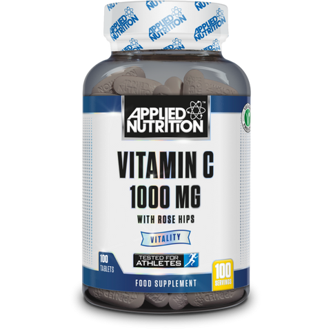 Applied Nutrition Vitamin C - 1000MG w/ Rose Hips - 100 Capsules