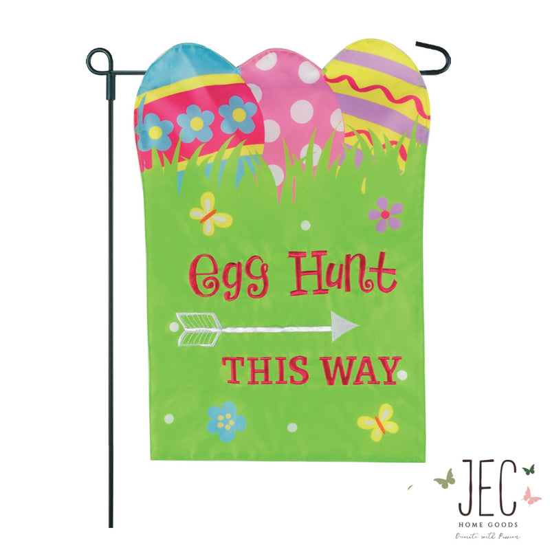 Easter Egg Hunt 2-Sided Garden Flag 12.5x18""