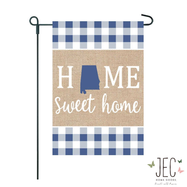 Home State Burlap 2-Sided Garden Flag 12.5x18""