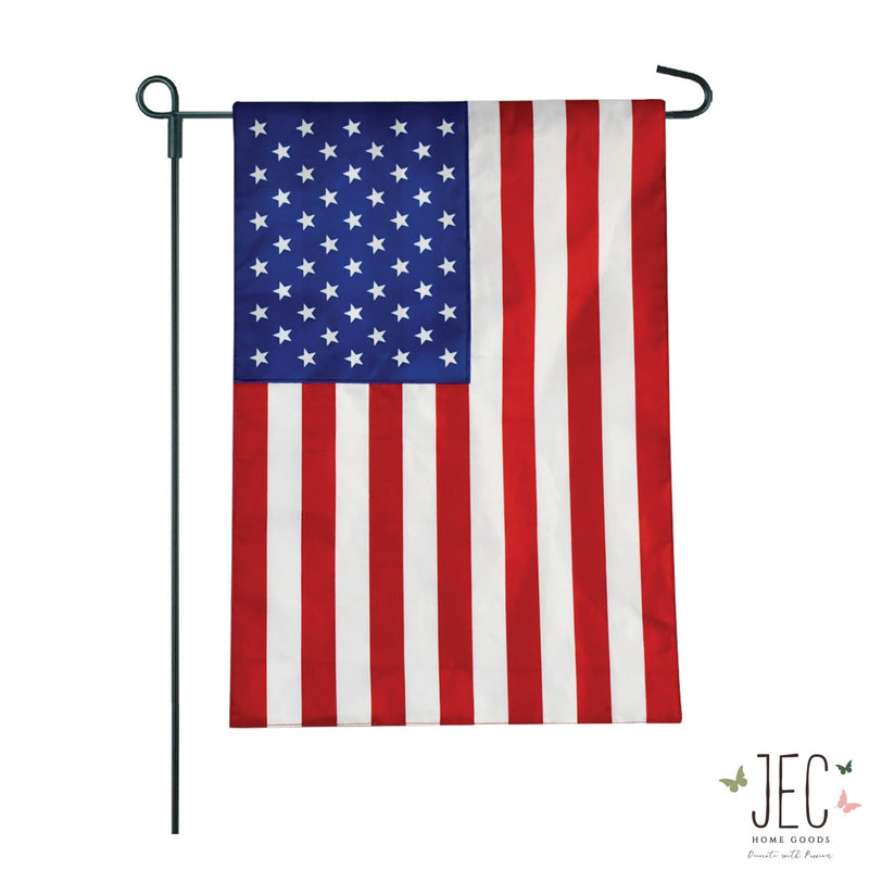 American Flag  2-Sided Garden Flag 12.5x18""