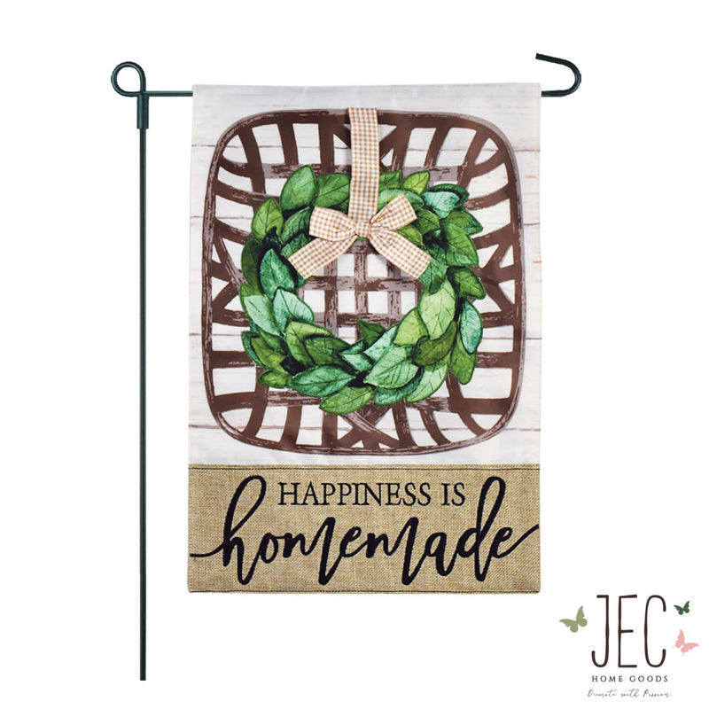 Tobacco Basket Burlap 2-Sided Garden Flag 12.5x18""
