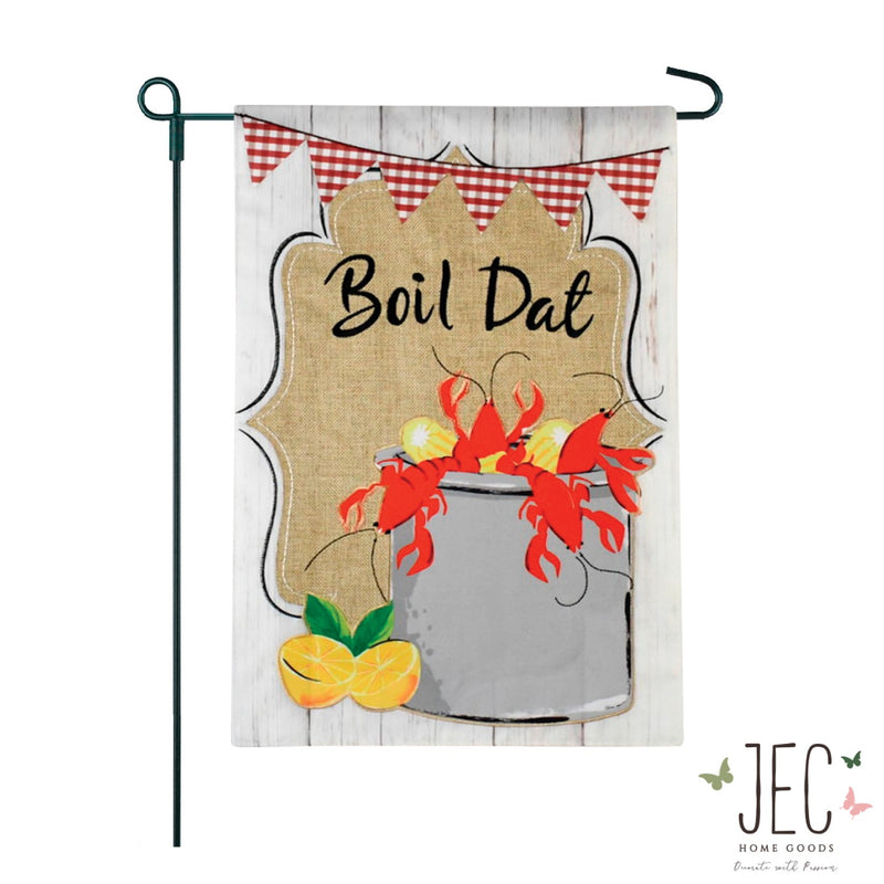 Crawfish Bunting Burlap 2-Sided Garden Flag 12.5x18""