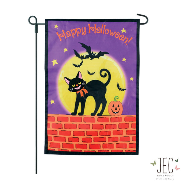 Cat On the Wall 2-Sided Garden Flag 12.5x18""