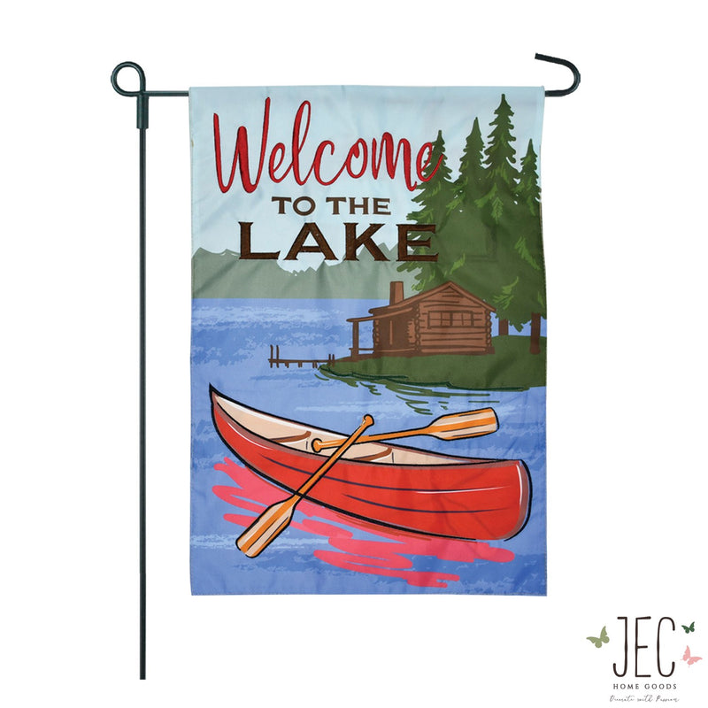 Lake Welcome 2-Sided Garden Flag 12.5x18""