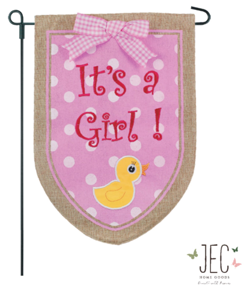 Baby Duck Burlap 2-Sided Burlap Garden Flag 12.5x18""