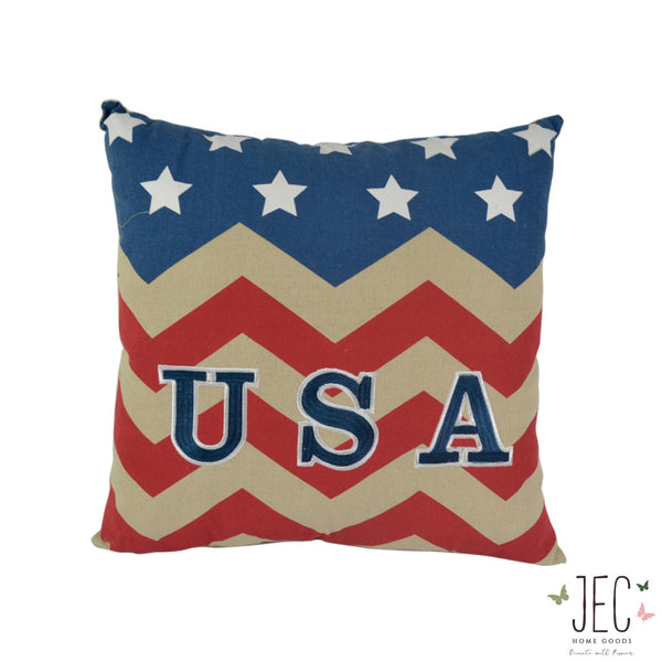 Americana Chevron USA Throw Pillow