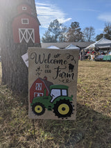 Barn Home Garden Flag Stand with Banner