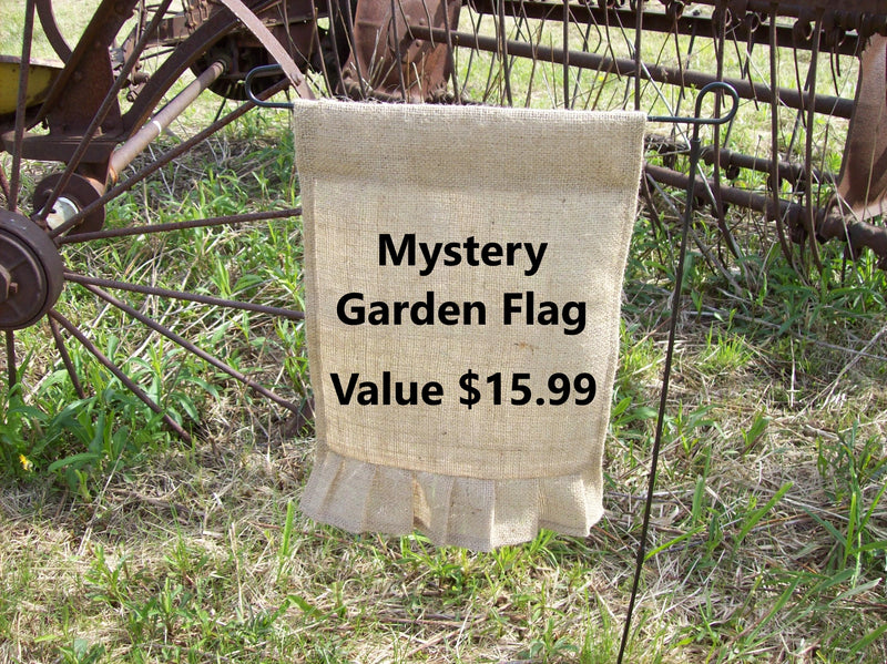 Mystery Garden Flag- Select your monogram letter and season