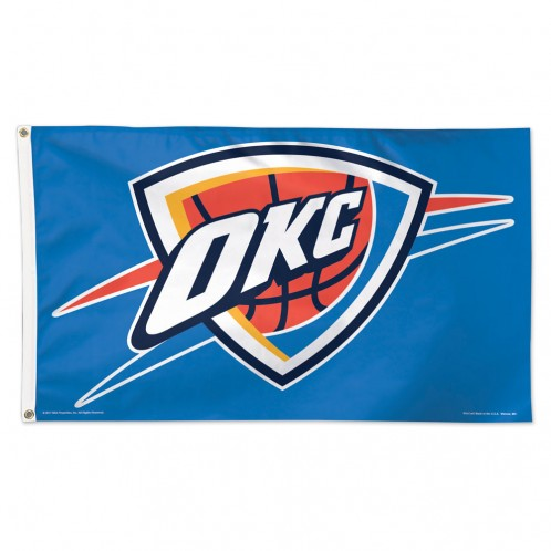 OKLAHOMA CITY THUNDER DELUXE FLAG 3X5