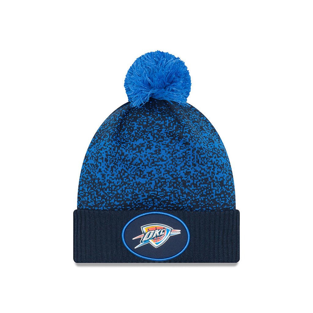 OKLAHOMA CITY THUNDER NEW ERA NAVY ON-COURT KNIT
