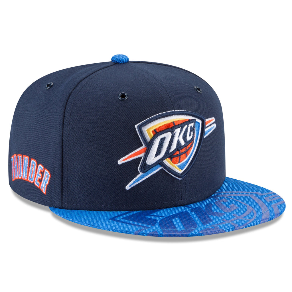 OKLAHOMA CITY THUNDER NEW ERA NBA ON COURT 9FIFTY SNAPBACK HAT