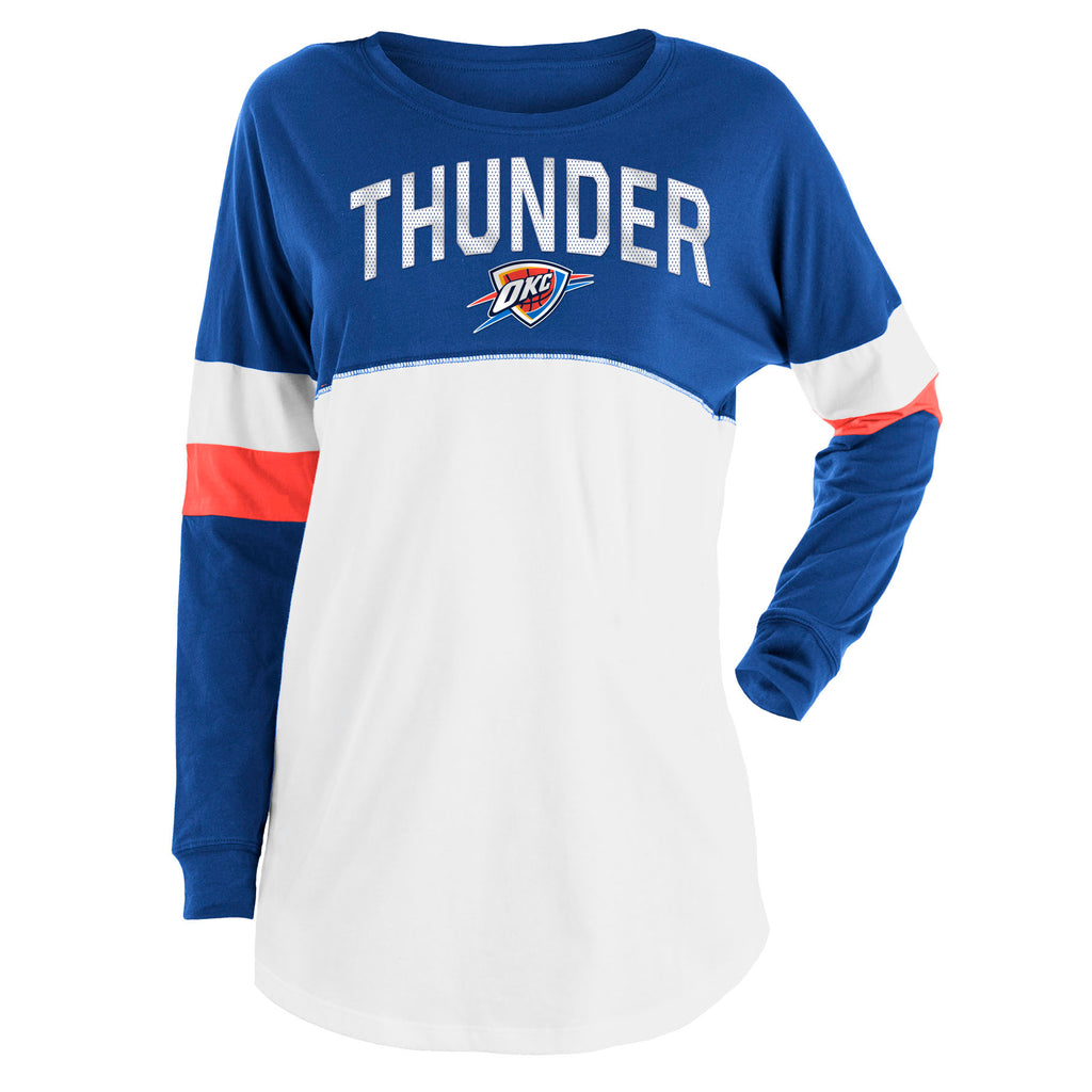 OKLAHOMA CITY THUNDER NEW ERA WOMENS JERSEY CREW