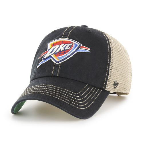 OKLAHOMA CITY THUNDER 47 BRAND BLACK TRAWLER CLEAN UP HAT