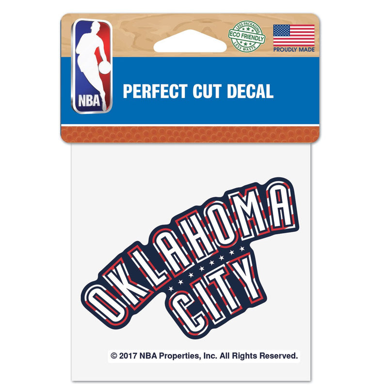 OKLAHOMA CITY THUNDER 4X4 FLAG ROAD DECAL