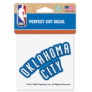 OKLAHOMA CITY THUNDER 4X4 CAMO PRIMARY ICON DECAL