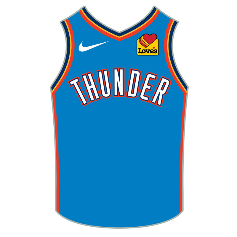 OKLAHOMA CITY THUNDER 2020 PSG ICON JERSEY LAPEL PIN
