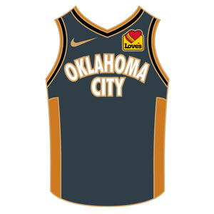 OKLAHOMA CITY THUNDER 2020 PSG CITY EDITION JERSEY LAPEL PIN