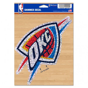 "OKLAHOMA CITY THUNDER SHIMMER DECAL 5""x 7"""