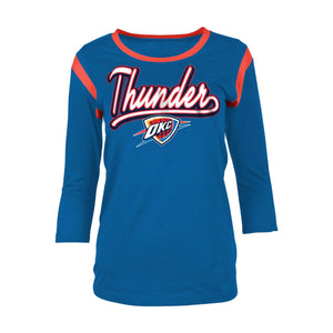 OKLAHOMA CITY THUNDER WOMENS THREE QUARTER BABY JERSEY CREW