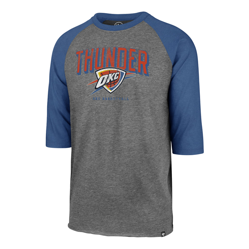 47 BRAND OKLAHOMA CITY THUNDER MENS BREAK THRU CLUB RAGLAN TEE