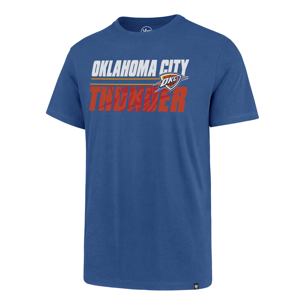 47 BRAND OKLAHOMA CITY THUNDER MENS THUNDER SHADOW SUPER RIVAL TEE