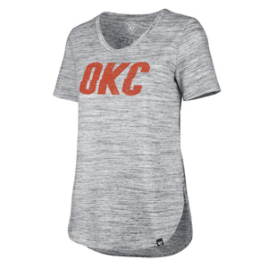 47 BRAND OKLAHOMA CITY THUNDER WOMENS HAZE SPLIT HEM TEE