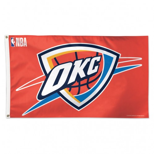 OKLAHOMA CITY THUNDER DELUXE FLAG 3X5 - SUNSET