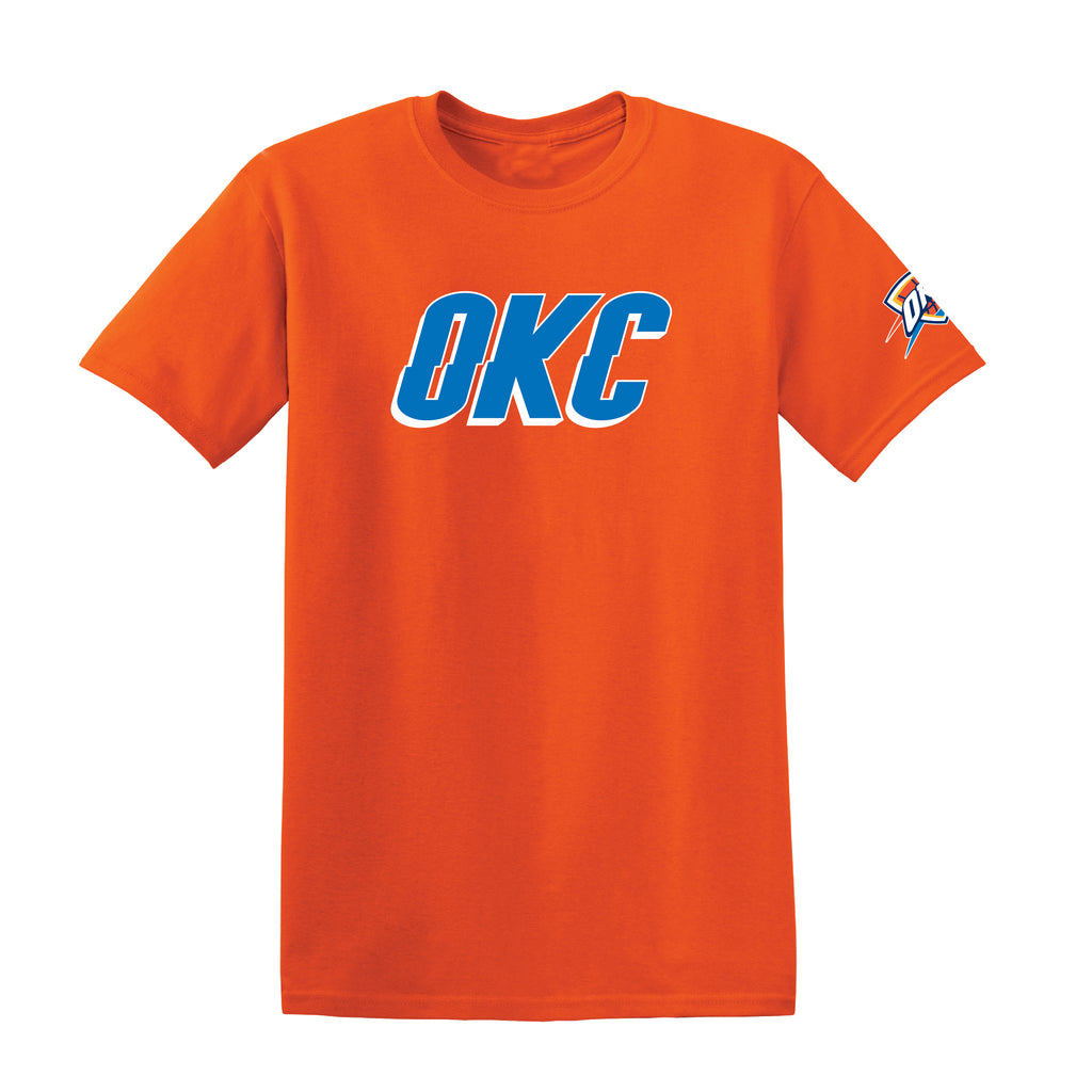 OKLAHOMA CITY THUNDER MENS 2019 LOGO SHORT SLEEVE TEE