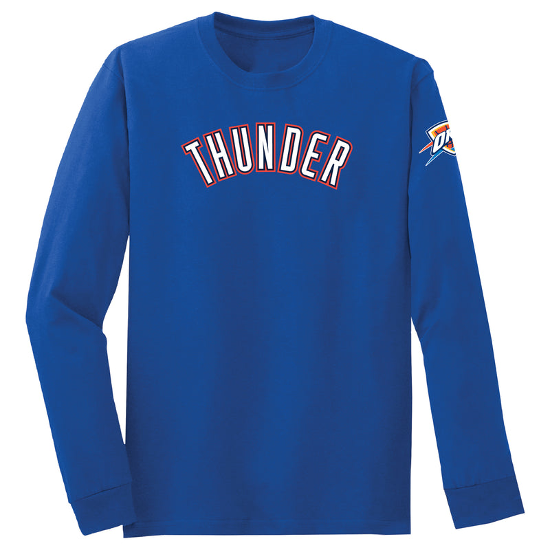 OKLAHOMA CITY THUNDER MENS 2019 LOGO LONG SLEEVE TEE