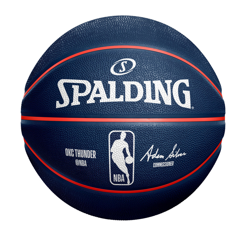 OKLAHOMA CITY THUNDER SPALDING B7 AREA CODE BALL