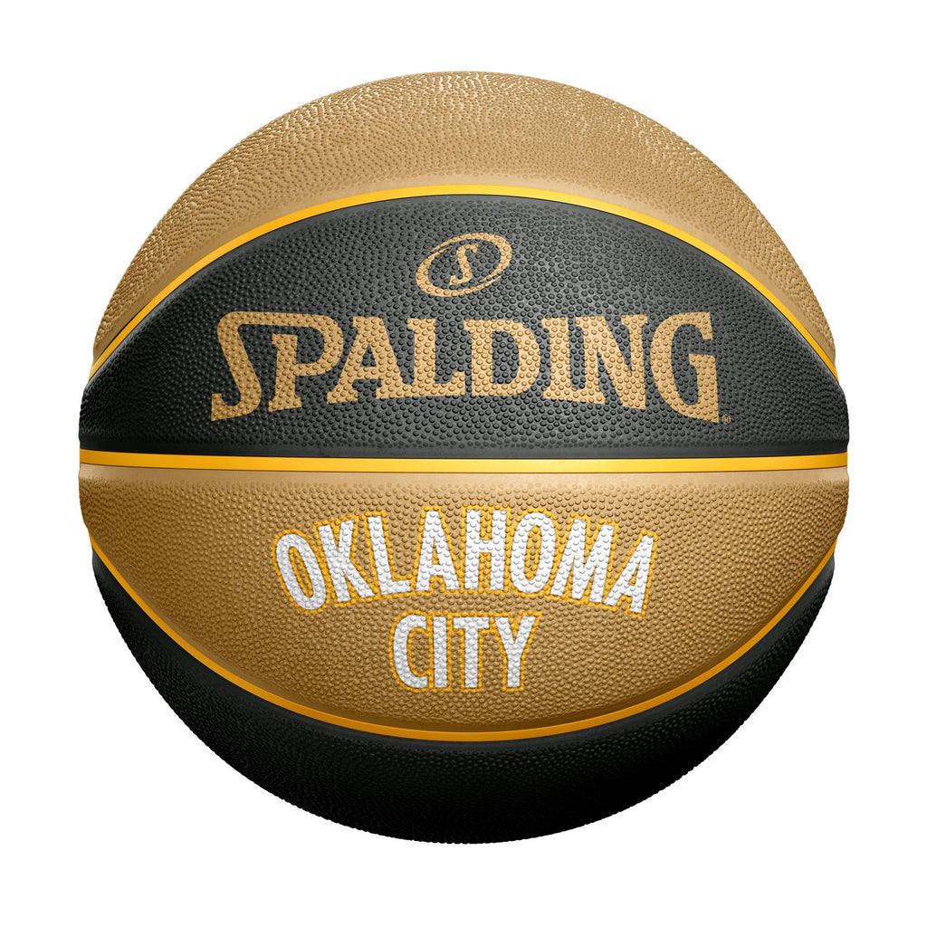 OKLAHOMA CITY THUNDER SPALDING B7 CITY EDITION BALL