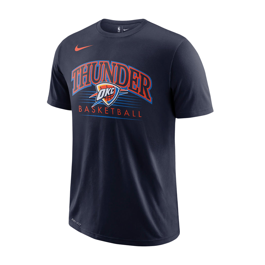 OKLAHOMA CITY THUNDER NIKE CENTER SHIELD STATEMENT TEE