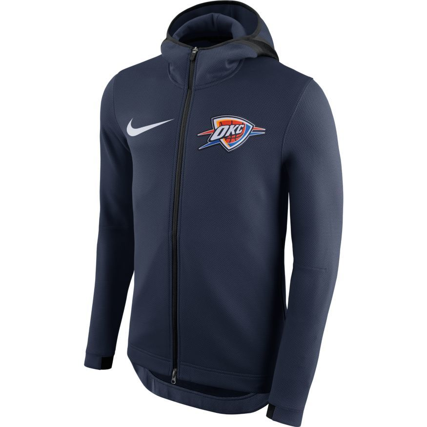 OKC THUNDER NIKE THERMAFLEX SHOWTIME HOODIE FULL ZIP