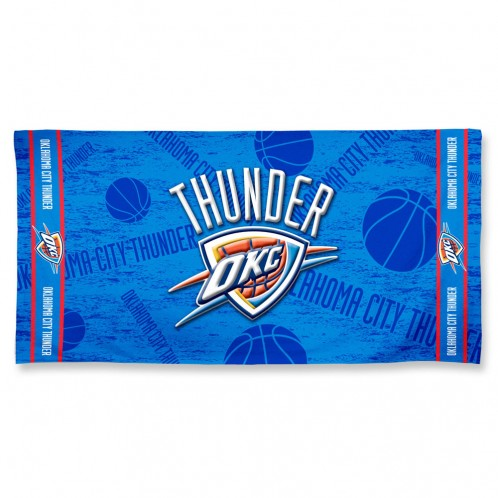 "OKLAHOMA CITY THUNDER FIBER BEACH TOWEL 30""x 60"""