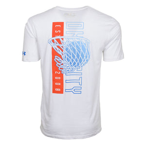 OKLAHOMA CITY THUNDER MENS UNDER ARMOUR NBA COMBINE MAKE EM HOOP SHORT SLEEVE TEE