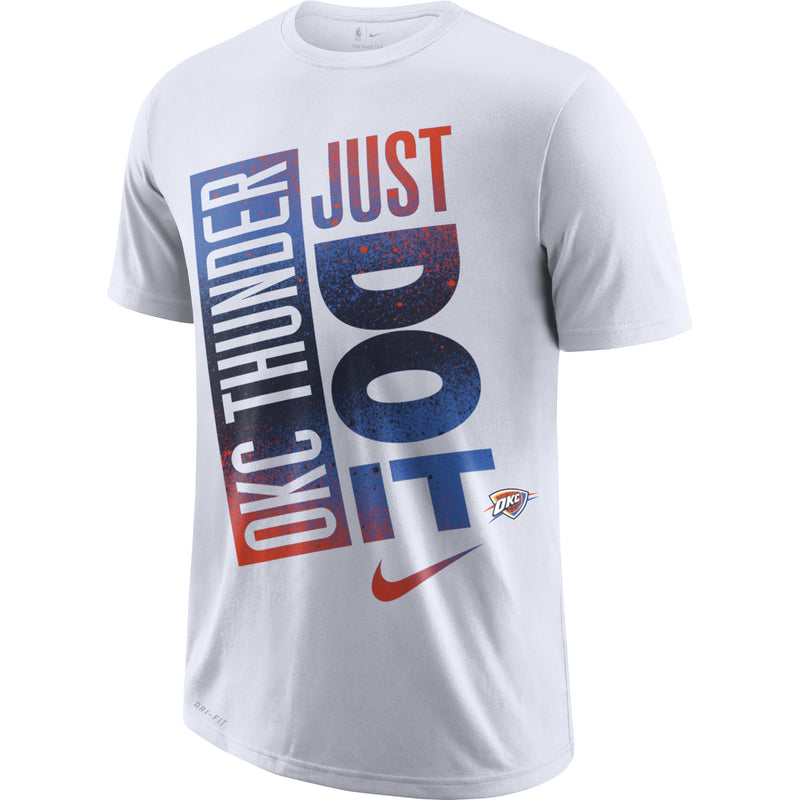OKC THUNDER NIKE 2019 JUST DO IT SPLATTER DRI FIT TEE