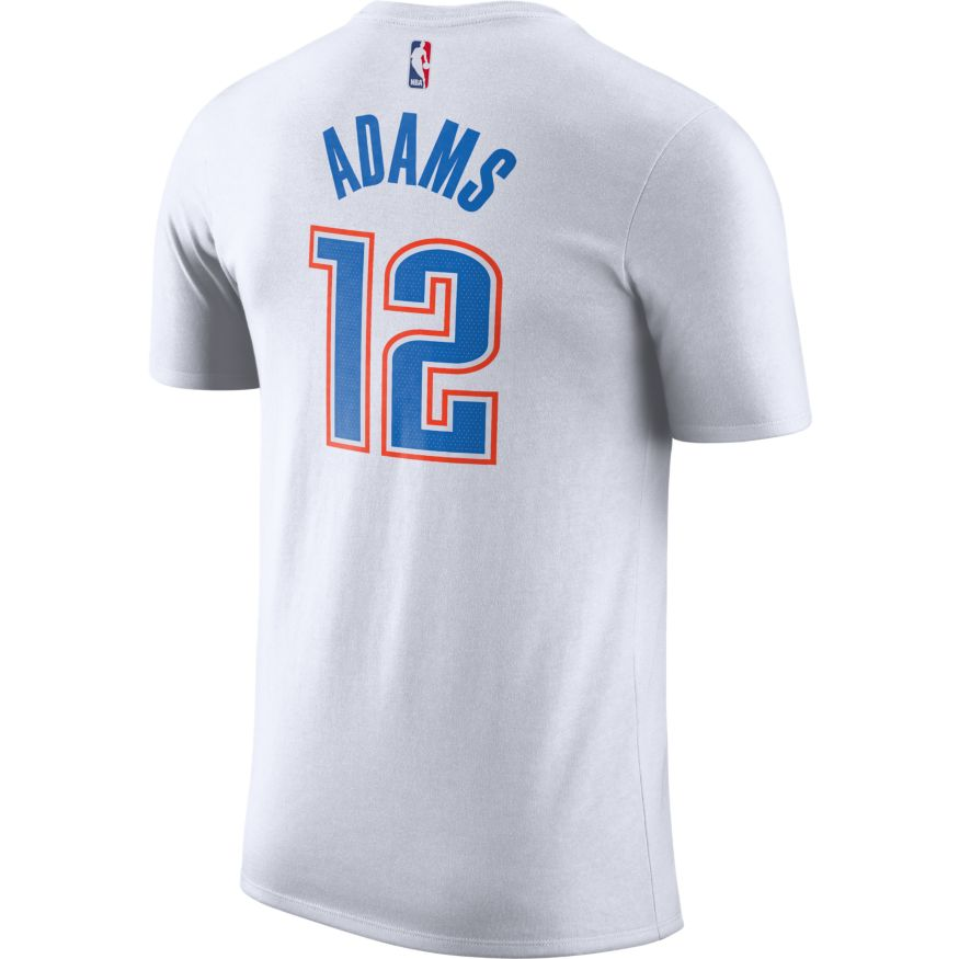 OKLAHOMA CITY THUNDER NIKE ASSOCIATION EDITION ADAMS NAME AND NUMBER TEE