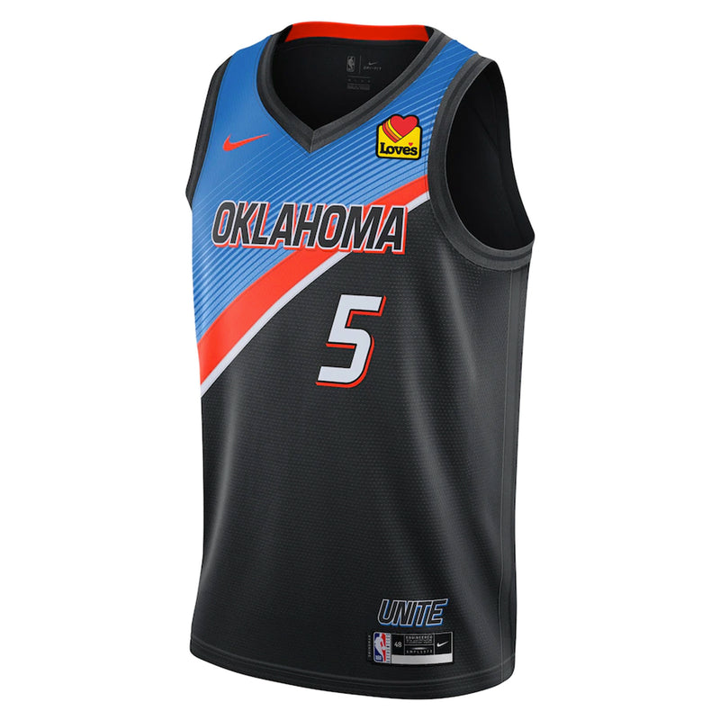 OKC THUNDER 2020-21 NIKE CITY EDITION AUTHENTIC LUGENTZ DORT JERSEY