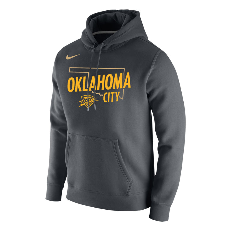 OKLAHOMA CITY THUNDER STATE OUTLINE FLEECE PULL-OVER HOODIE