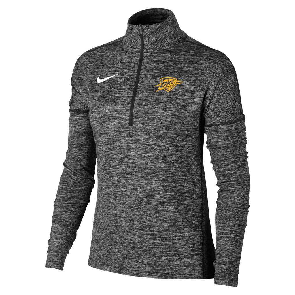 OKLAHOMA CITY THUNDER NIKE WOMEN'S HEATHERED ELEMENT QUARTER ZIP