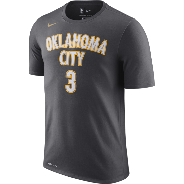 OKLAHOMA CITY THUNDER NIKE CITY EDITION CHRIS PAUL NAME AND NUMBER TEE
