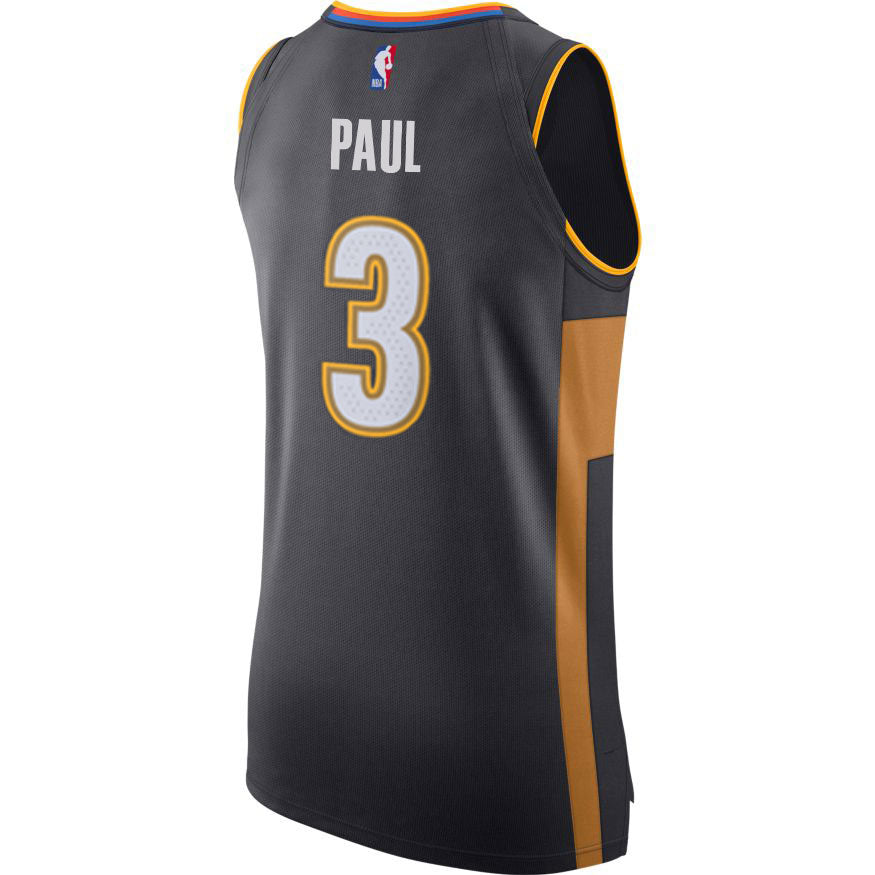 OKLAHOMA CITY THUNDER 2019-20 NIKE CHRIS PAUL AUTHENTIC CITY EDITION PLAYER JERSEY
