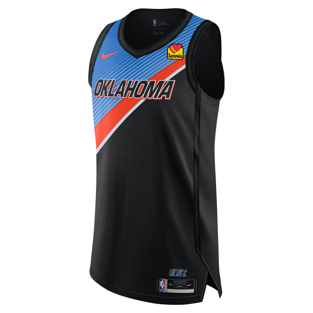 OKC THUNDER 2020-21 NIKE CITY EDITION CUSTOM JERSEY