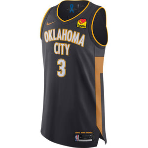 OKLAHOMA CITY THUNDER 2019-20 NIKE CHRIS PAUL CITY EDITION PLAYER JERSEY