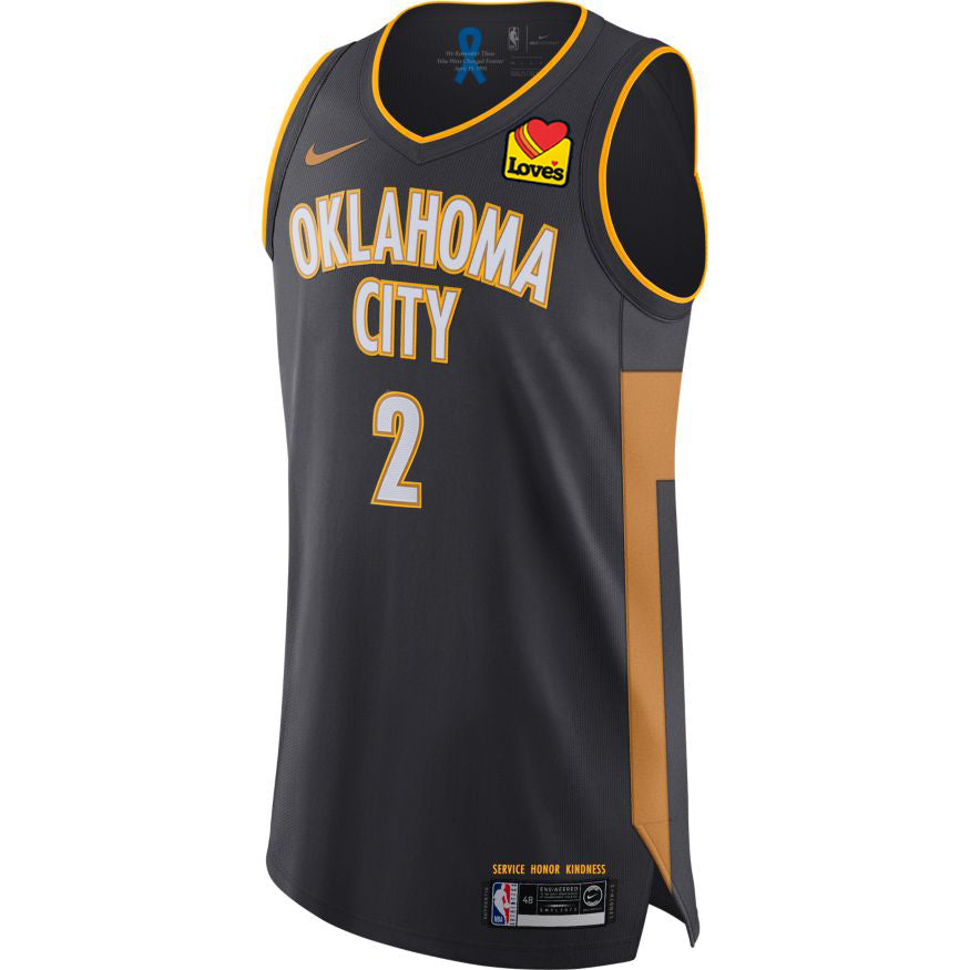 OKLAHOMA CITY THUNDER 2019-20 NIKE SHAI GILGEOUS-ALEXANDER AUTHENTIC CITY EDITION  PLAYER JERSEY