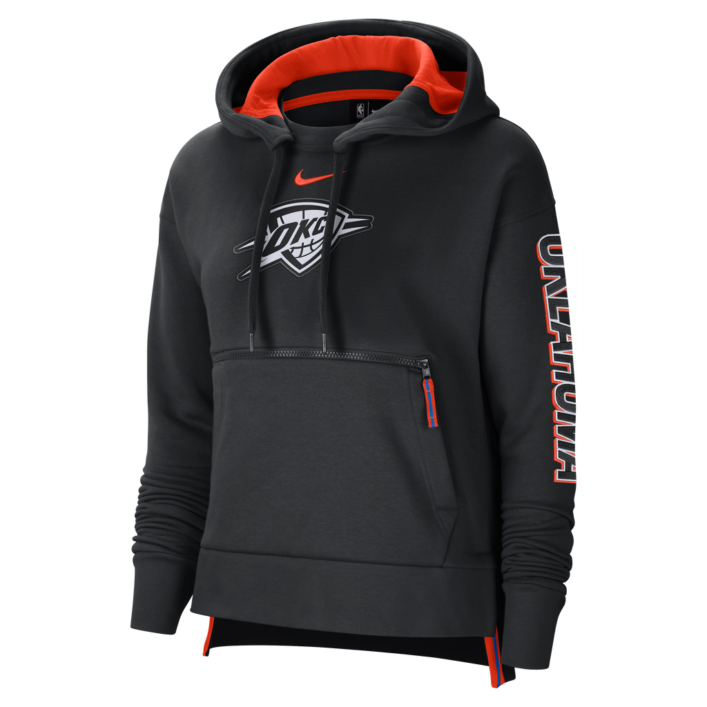 OKC THUNDER CITY EDITION NIKE WOMENS COURTSIDE PULLOVER HOODIE