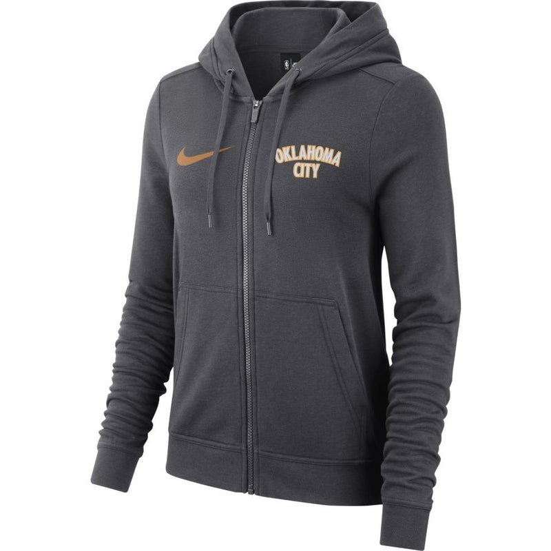 OKLAHOMA CITY THUNDER NIKE WMN CITY EDITION LOGO FULL ZIP