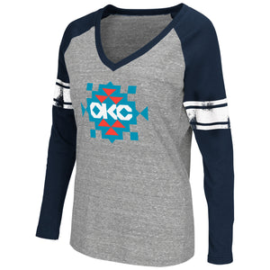 OKLAHOMA CITY THUNDER WOMENS RAGLAN TEE