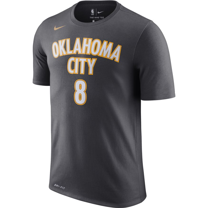 OKLAHOMA CITY THUNDER NIKE CITY EDITION DANILO GALLINARI NAME AND NUMBER TEE