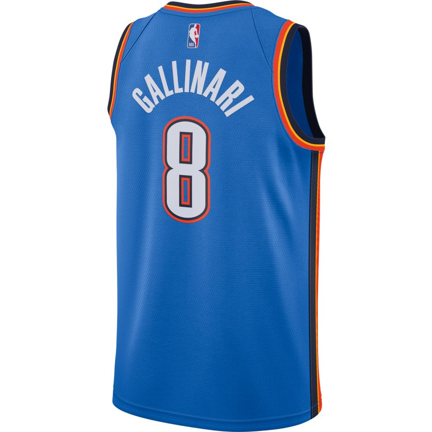 OKLAHOMA CITY THUNDER 2019-20 DANILO GALLINARI NIKE ICON SWINGMAN JERSEY